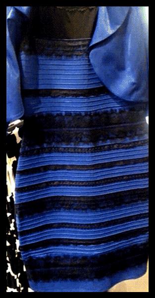 Vestido azul e preto resposta