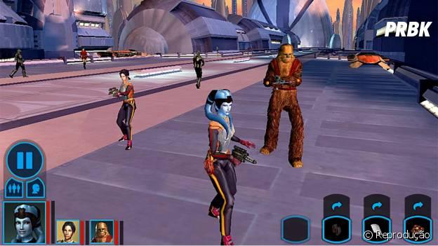 "Tela da interface de ""Star Wars: Knight of the Old Republic"""