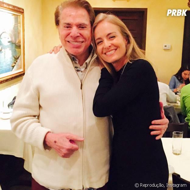 Angélica também posta foto com Silvio Santos