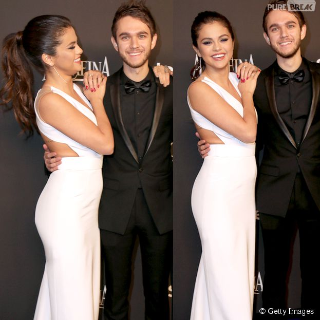 Selena Gomez e Zedd eram só sorrisos após o Globo de Ouro 2015. Os dois chegaram a ser fotografados de mãos dadas