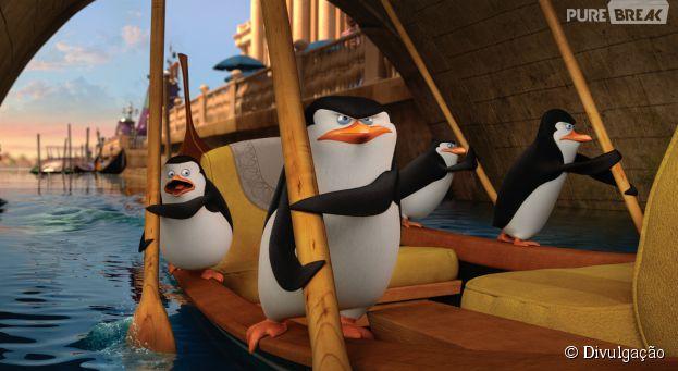 """""""Os Pinguins de Madagascar"""" tem direção deSimon J. Smith e Eric Darnell"""