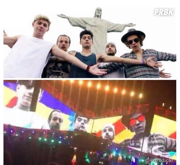 """A abertura do novo show do One Direction, """"On The Road Again"""", conta com uma imagem dos meninos no Cristo Redentor!"""
