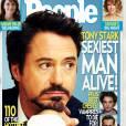 """Capa da People traz a manchete: """"Tony Stark – o homem mais sexy vivo!"""", de """"Os Vingadores"""""""