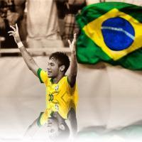 Neymar, ao lado de Bruna Marquezine na Áustria, comemora vitória do Brasil