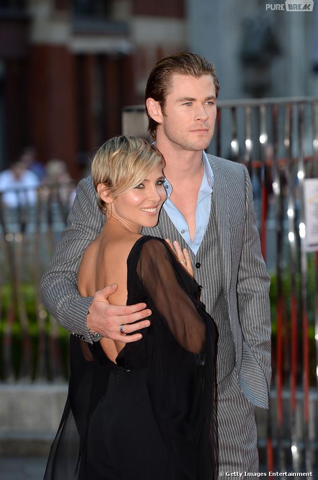 """Chris Hemsworth será pai pela segunda vez! Sua mulher Elsa Pataky está grávida, segundo a revista """"US Weekly"""" desta quinta-feira, 21 de novembro de 2013"""