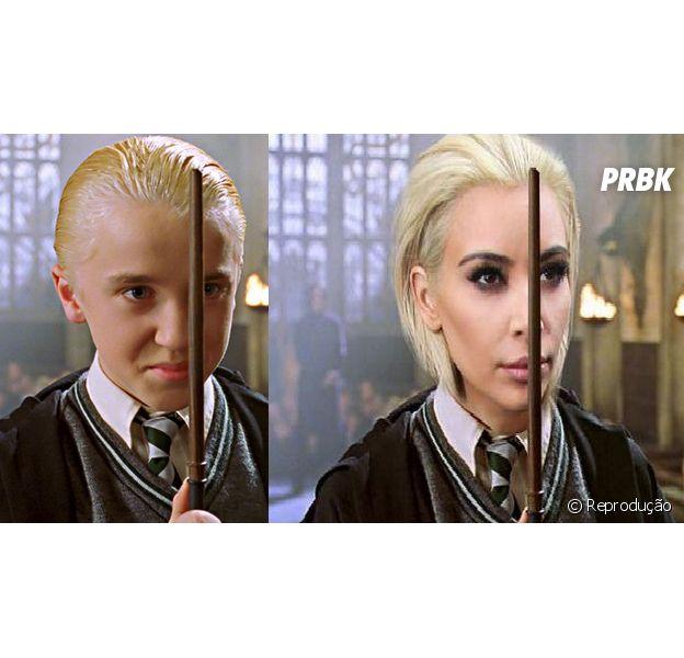 Kim Kardashian como Draco Malfoy