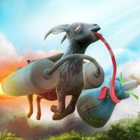 """Cabras invadem """"Dota 2"""": personagem de """"Goat Simulator"""" pode virar uma skin de entregador"""