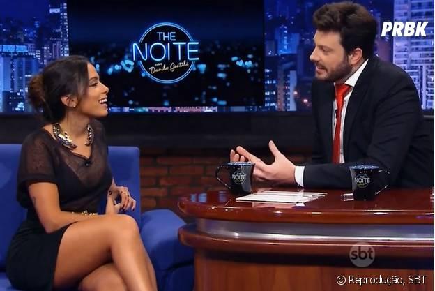 """Anitta no """"The Noite"""" fala sobre machismo e Luan Santana"""