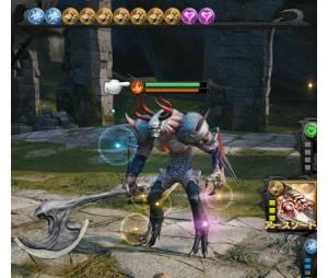"""Em uma captura de tela com o gameplay de """"Mevius Final Fantasy"""" você consegue ver a perspectiva em terceira pessoa"""