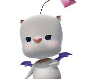 """Este é Mog, um dosMoogles que vivem em Paramitia no jogo""""Mevius Final Fantasy"""". Ele é muito sensível e consegue identificar quando o guerreiro da luz se aproxima"""