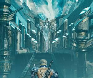 """Um dos mapas que podem ser explorados em """"Mevius Final Fantasy"""""""