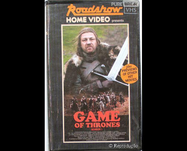 """Série """"Game of Thrones"""" em VHS! Imagine o sucesso que seria?"""