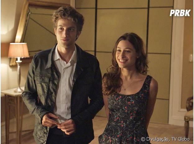 """O romance de Rafael (Chay Suede) e Laís (Luísa Arraes) vai ficar em risco em """"Babilônia"""""""