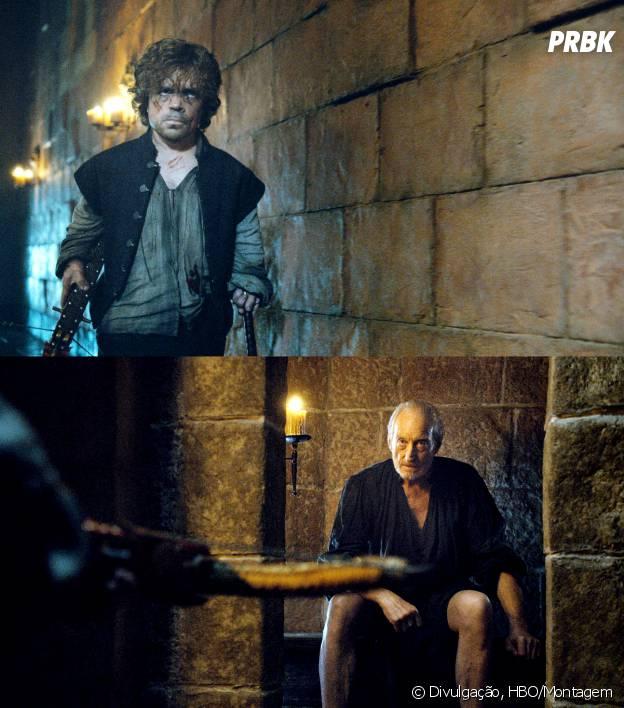 """Tyrion (Peter Dinklage) se revoltou no final da 4ª temporada de """"Game of Thrones"""" e mudou seu destino assassinando o próprio pai"""