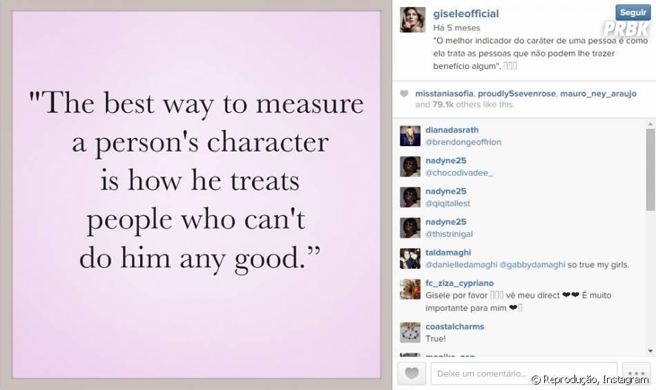De onde surge tanta inspiração para os recadinhos que Gisele Bündchen posta no Instagram?