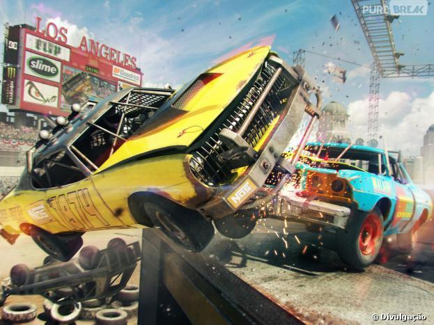 """""""Dirt Showdown"""": destruição do cenário e dos oponentes"""