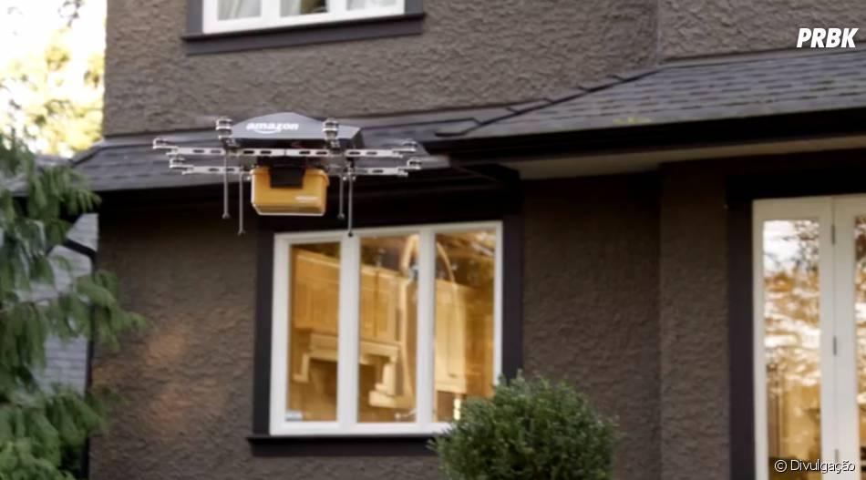 """""""Amazon Prime Air"""": com o sistema de drones as encomendas deverão ser entregues em apenas 30 minutos."""