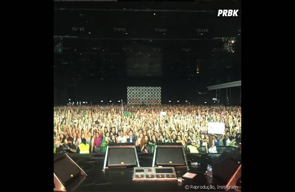 Ed Sheeran publicou (como de costume) foto da plateia em show no Brasil
