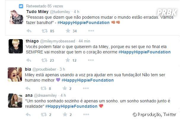 Fãs de Miley Cyrus elogiam atitude da cantora em criar a Happy Hippie Foundation