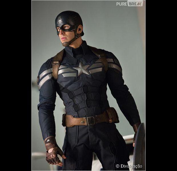 """Chris Evans em """"Capitão América: Soldado Invernal"""""""