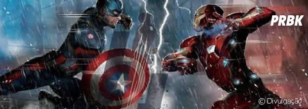 """Capitão América e Homem de Ferro em """"Capitão América: Guerra Civil"""""""