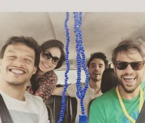"""Hugo Bonemer e Sabrina Petraglia animados com o final da novela """"Alto Astral"""""""