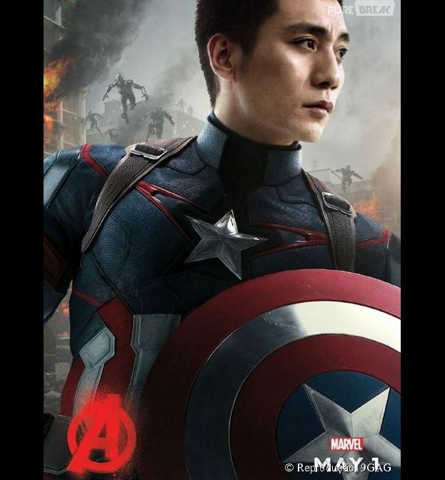 """Capitão América, de """"Os Vingadores"""", vira chinês em montagem na internet"""
