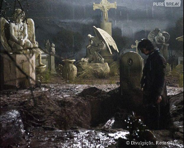 "Malvina (Marina Ruy Barbosa) vira noiva-cadáver em ""Amorteamo"", da Globo"