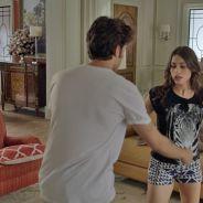 """Novela """"Babilônia"""": Rafael (Chay Suede) e Laís (Luísa Arraes) são pegos de surpresa por Teresa"""