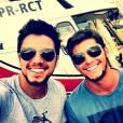 Rodrigo Simas e Bruno Gissoni aceitaram participar de um teste para uma produtora americana mas de acordo com a assessoria dos atores, o compromisso deles é com a Globo