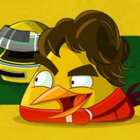 """Game """"Angry Birds Go!"""": simulador de corrida anuncia personagem inspirado em piloto Ayrton Senna"""