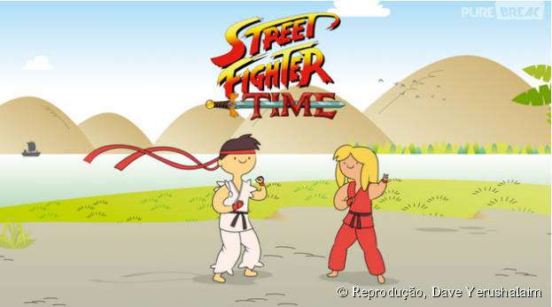 "Se existisse ""Street Fighter Time"", Ryu e Ken ficariam assim"