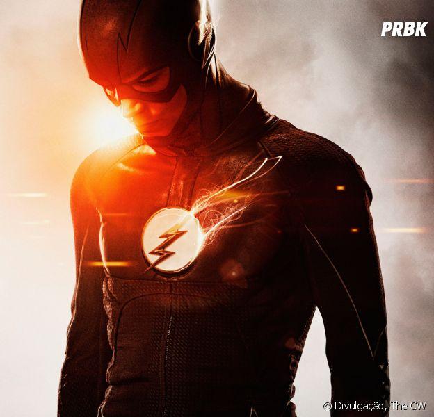 """Em """"The Flash"""", o novo uniforme do Flash tem o símbolo branco!"""