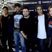 Sophia Abrahão, Sérgio Malheiros e Gabriel Medina prestigiam Fernando & Sorocaba em show