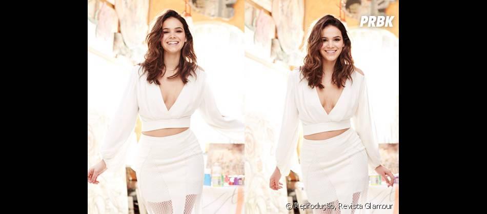 Bruna Marquezine em mais um look total white: uma das suas apostas preferidas!