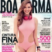 """Tainá Müller, de """"Babilônia"""", mostra corpaço e posa de maiô para capa de revista Boa Forma. Veja!"""