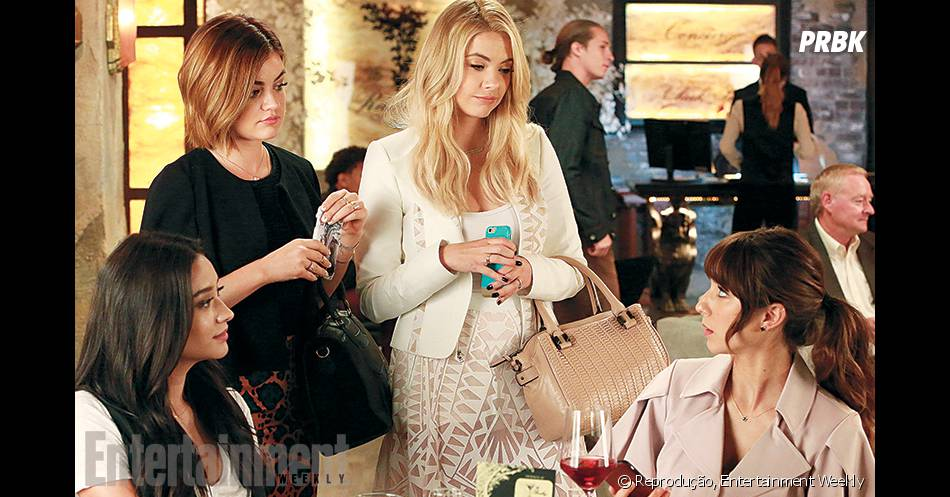 "Em ""Pretty Little Liars"", Emily (Shay Mitchell), Aria (Lucy Hale), Hanna (Ashley Benson) e Spencer (Troian Bellisario) mudam totalmente de visual no futuro!"
