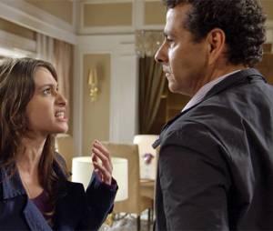 """Laís (Luisa Arraes) e Aderbal (Marcos Palmeira) brigam feio em """"Babilônia"""""""