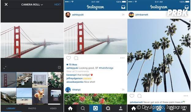 Instagram abandona formato quadrado e permite postar fotos sem cortar