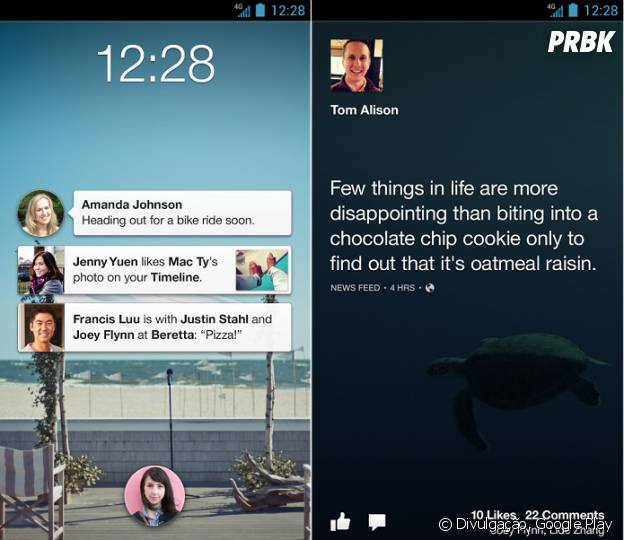 Android mais bonito: Facebook Home