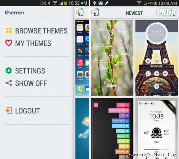 Android mais bonito: Themer