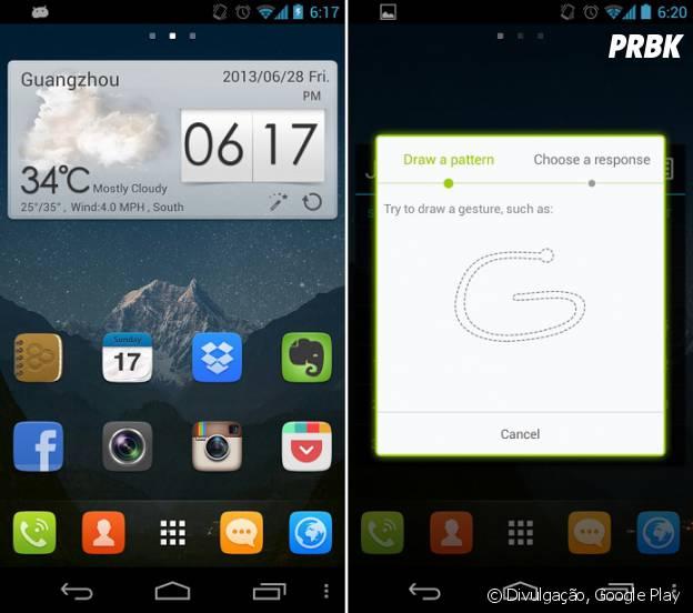 Android mais bonito: GO Launcher EX