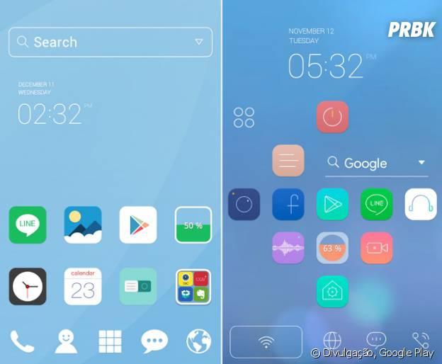 Android mais bonito: LINE Launcher