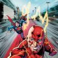 Flash registrou o momento em que brinca com o Superman