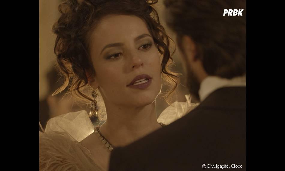 """Em """"Além do Tempo"""": Felipe (Rafael Cardoso) é noivo de Melissa (Paolla Oliveira). Que problemão!"""