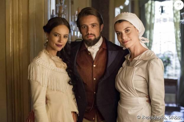 """Em """"Além do Tempo"""": Melissa (Paolla Olveira), Felipe (Rafel Cardoso) e Lívia (Alinne Moraes) morrem no final da primeira parte da novela!"""