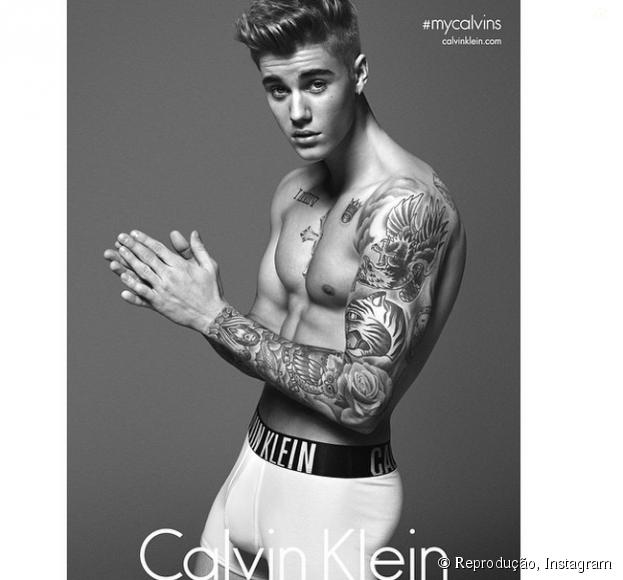 Justin é um dos astros que mais posta foto de cueca no Instagram
