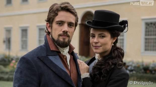 """Em """"Além do Tempo"""": Melissa (Paolla Oliveira) vai ser casada com Felipe (Rafael Cardoso) em nova fase da novela!"""