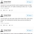 Caíque Gama, da banda FLY, comenta polêmica em seu Twitter
