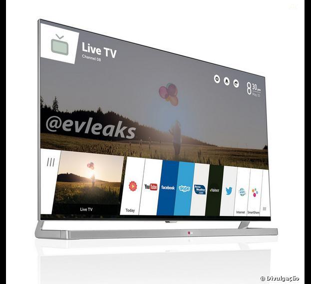"""Imagem vazada pelo """"evleaks"""" mostra Sistem Operacional da TV inteligente da LG"""